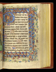 Illuminated Initial And Border, In 'The Hamelden Hours'